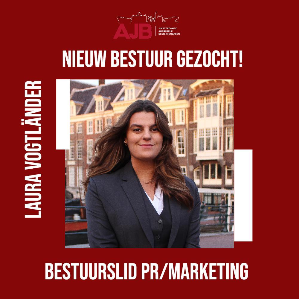 Bestuurslid PR/Marketing aan het woord.